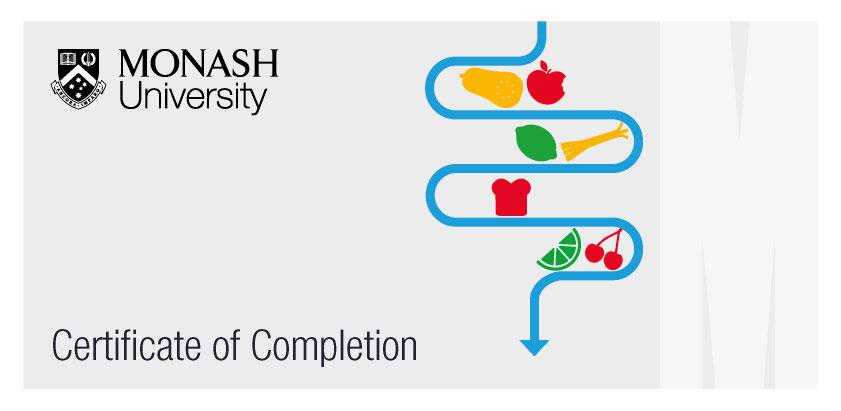 Reizdarm: Monash-Universität-Zertifikat